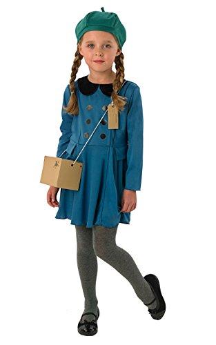 Evacuee Costumes For Girls (Small Girls Evacuee Girl Costume)