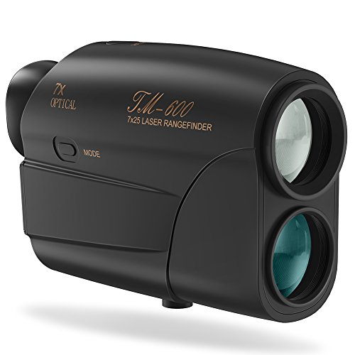 Fnova Laser Rangefinder, Hunting Range Finder Ranging 5-600 Yards, 1 Yd Accuracy, 7X Magnification Lens with Distance and Speed Mode for Golf,Racing,Archery,Survey, Laser Distance Meter