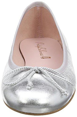Pretty Ballerinas 35629 - Bailarinas mujer Plateado (Ami Plata)