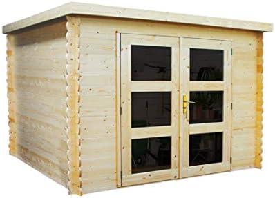 Alpholz Gent - Cobertizo para jardín (madera de abeto, incluye tela asfáltica, sin tratamiento de colores): Amazon.es: Jardín