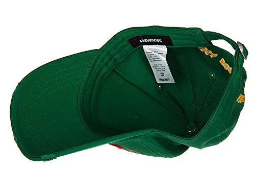 sombrero algodón Dsquared2 ajustable verde en gabardine hombre nuevo dTngEHqnx