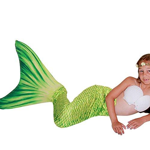 Mermaid Costume For Girls To Swim In (Play Tailor Mermaid Tail Swimmable Costume Swimsuit for Girls Swimming(No monofin))