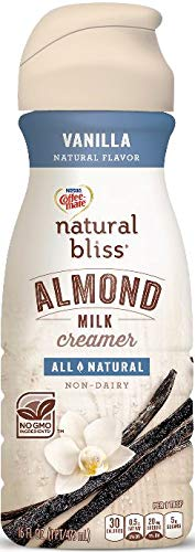 COFFEE MATE NATURAL BLISS Almond Milk Vanilla All-Natural Liquid Coffee Creamer, 16 Fl. Oz. Bottle | Non-Dairy Creamer