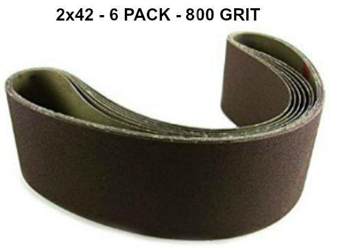 2x42 - 800 Grit 6 Pack - Premium Silicon Carbide Knife Sh...