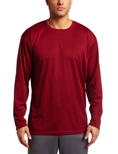 - ASICS Men's Circuit 7 Warm-Up Long Sleeve Shirt (Cardinal, Medium)