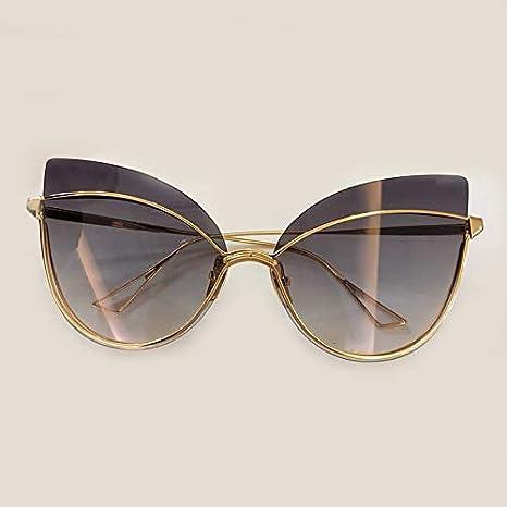 LKVNHP Ojo de Gato Gafas de Sol de Mujer Marco de Acetato Gafas de Sol de Espejo Transparente Mujeres con Caja Original No2 Gafas de Sol: Amazon.es: Deportes y aire libre