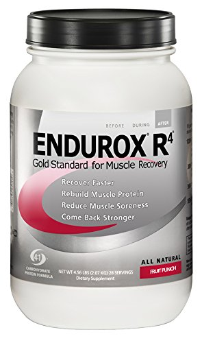 (PacificHealth Endurox R4, All Natural Post Workout Recovery Drink Mix with Protein, Carbs, Electrolytes and Antioxidants for Superior Muscle Recovery, Net Wt. 4.56 lb, 28 serving (Fruit Punch))