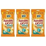 3 Packs of 40 Tumble Dryer Sheets,Conditions,Softens & Freshens