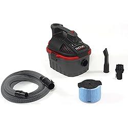 RIDGID 50313 4000RV Portable Wet Dry Vacuum, 4-Gallon Small Wet Dry Vac with 5.0 Peak HP Motor, Pro Hose, Ergonomic Handle, Cord Wrap, Blower Port