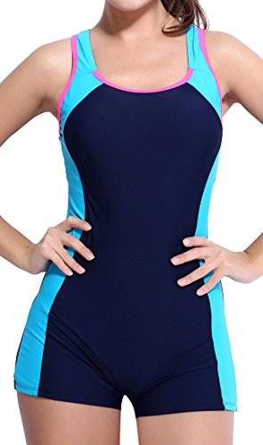 BeautyIn Womens Pro One Piece chlorine resistant swimsuits for women,X Back,4
