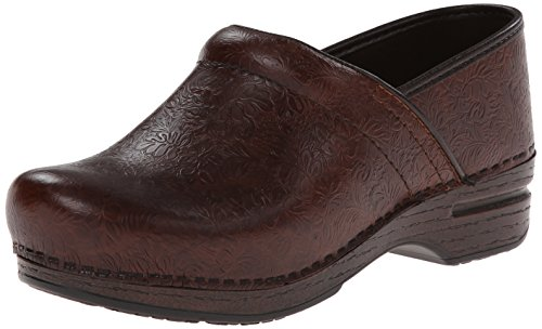 Dansko Women's Pro XP Mule,Brown Floral Tooled,38 EU/7.5-8 M US by Dansko
