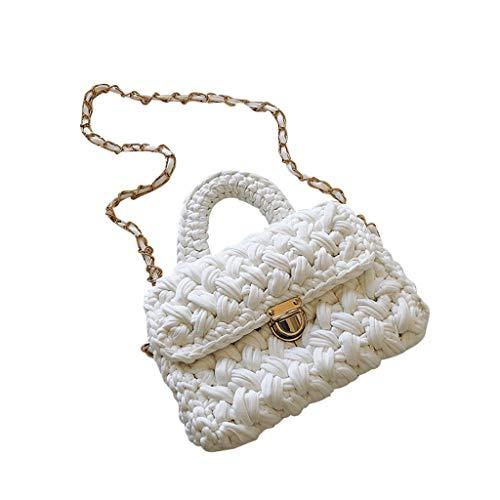 Woven Bag Cotton Flap Shoulder Bags Handwoven Woven Crossbody Handbag Purse Boho Bali Beach Bags for Women