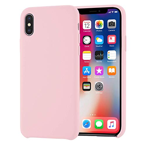 iPhone X Case, iPhone X Silicone Case Liquid Silicone Gel Rubber Slim Fit Soft Phone Case with Microfiber Cloth Lining Cushion for Apple iPhone X/iPhone 10