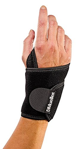 Medicine Sports Wrap Mueller (Mueller Sports Medicine Wraparound Wrist Brace Support Wrap One Size Black 4505)