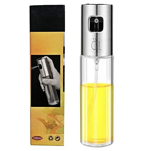 Best AirGo Glass Oil Sprayer Dispenser Stainless Steel Olive Oil Spray Bottle for BBQ, Cooking Frying 100mL (1PACK)