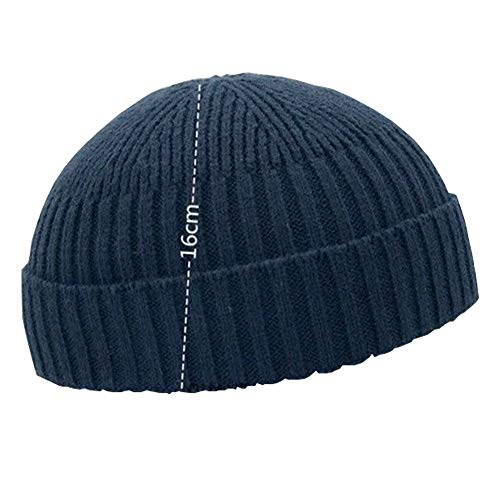Fashion Fall Winter Knitted Hat Skull Cap Sailor Cap Cuff Beanie Vintage for Men Women