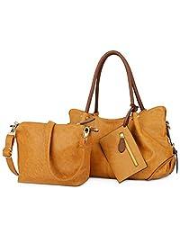 SPECIAL DISCOUNT - UTO Women Handbag Set 3 Pieces Bag PU Leather Tote Small Shoulder Purse Bags Wallet Strap