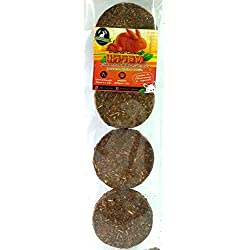 Zhaimon Cookies Timothy Grass Mix Carrot Rabbit food ( Pack 6 )
