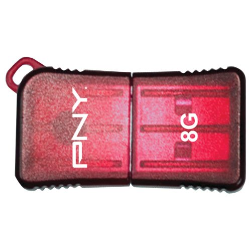 Micro Pny Attache Usb - PNY 8 GB Micro Sleek USB Drive, Red (P-FDU8GBSLK/RED-EF)
