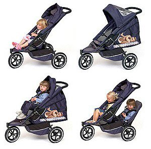 Phil Teds Vibe 2 Stroller Double Kit Black Red