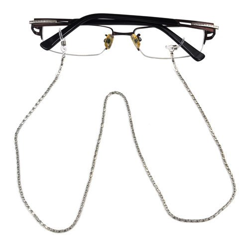 SWT Silver Reading Glasses Spectacles Sunglasses Metal 56cm Long Chain Neck Cord Strap 1