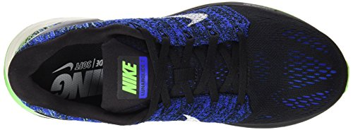 Nike Herren Lunarglide 7 Laufschuhe Schwarz - Noir (Black/Sail/Racer Blue/Voltage Green)
