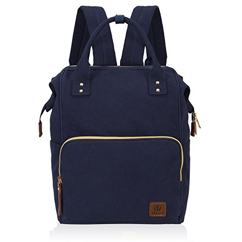 Veegul Stylish Doctor Style Multipurpose Travel Backpack Everyday Backpack for Men Women Single Pocket Navy Blue ()