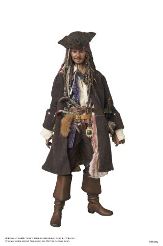 Authentic Jack Sparrow Costumes - Medicom Pirates Of The Caribbean On Stranger Tides Captain Jack Sparrow Ultimate Unison Figure
