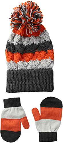 [Toby & Company Toddler Boys Stripe Cable Knit 2 Piece Set, Dark Gray, Toddler] (Knit Two Piece Set)