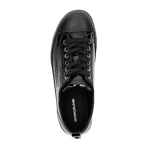Schwarz Klein Patent Sneaker Damen Calvin 000 Black Zolah Jeans 1SFFT