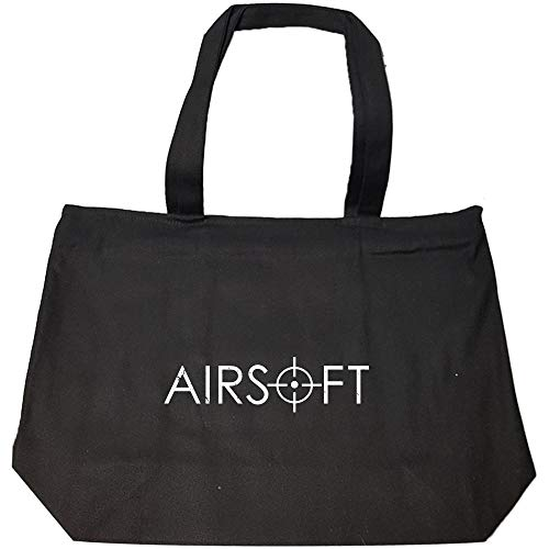 Funny Airsoft - Target Gun Shooting Game - Simulation Competitive Team - Fashion Zip Tote Bag ()