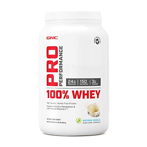 Best GNC Pro Performance 100 Whey Protein - Natural Vanilla 2.06 lbs.