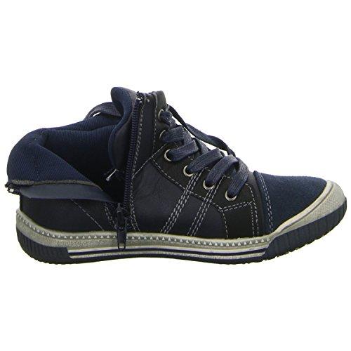 Sneakers 55.451 Jungen Kinderschuh Sneaker Boots Schnürstiefel Gefüttert Farbe Blau