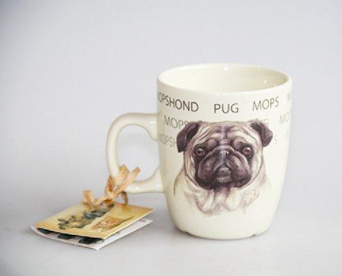 Keramik-Tasse Mops