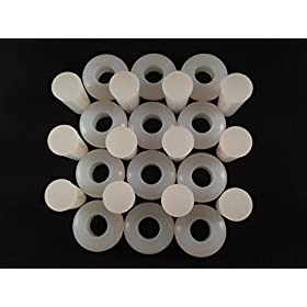 Homebrew Guys Fermentation Grommets Pack of 12. Food Grade BPA-Free White Silicone Rubber Complete w