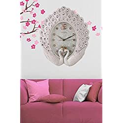 My Aashis European-Style Wall Clock Peacock Wall Clock/Living Room Mute Decorative Wall Clock Retro Creative Fashion Art Clock(90001)