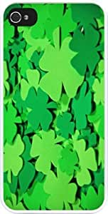 Green Irish clovers Design Personality Silicon Rubber Luxury Cover Case For Iphone 6 (Black) By ALL MY DREAMS!!