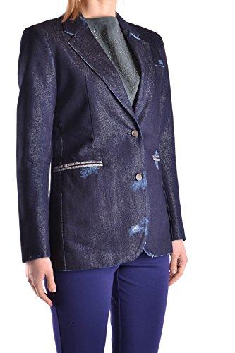 Algodon Jacob Cohen Blazer Ezbc054208 Mujer Azul wUwHgPpqx