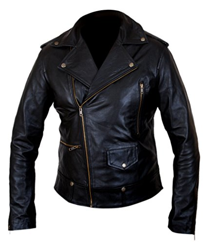 Cowhide Hart Now Men's Kevin Double Leather amp;h Genuine F What Black Rider Jacket 8xSn1tYq