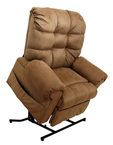 Catnapper Omni Power Lift Full Lay-Out Chaise Recliner Chair in Saddle