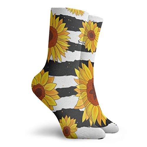 Socks Stripe Sunflowers Personalized Womens Stocking Accessory Sock Clearance for Girls