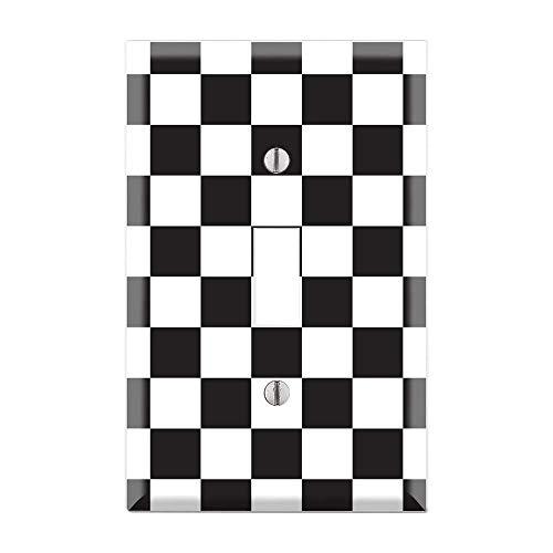 (Race Car Plate Cover, Race Car Light Switch Cover, Checkered Flag, Nascar, Car Fan, Car Lover, Race Cars Plate Cover, Boys Bedroom TF55)