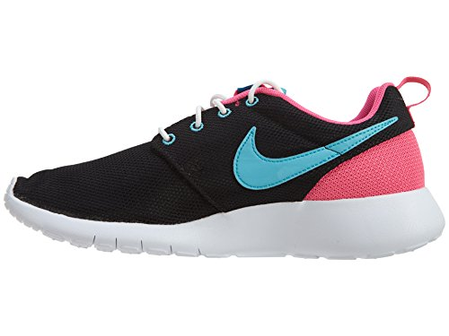 Nike Roshe Run 599728-403 - Zapatillas de cuero para unisex-adulto, color azul, talla 33 Black/Gamma Blue-Pink Blast-White
