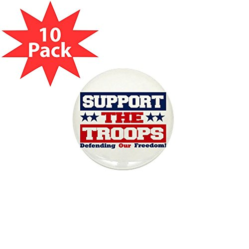 Mini Button (10 Pack) Support the Troops and Our Freedom (Troops Button)