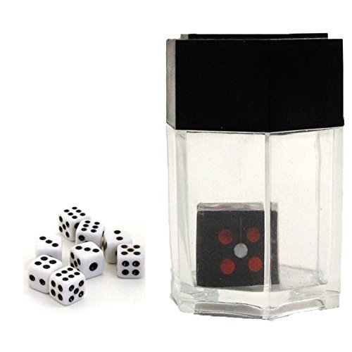 GOGOBO Magic Dice Trick Easy Magician Prop Set Magic Tricks Toys Explosion Dice Mini Bomb Change Size Dice for Kids Close-Up Magic (White, Bomb Dice) (Magic Tricks Easy Toy)