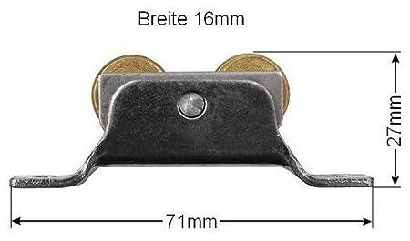 25mm Laufrolle Rollwagen Schiebet/ürbeschlag Schiebet/ür Holzt/üre Rolle Duscht/üre