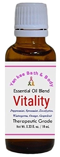 Vitality Essential Oil Synergy Blend, 3 Sizes, Therapeutic Grade, Pure and Natural (10 ml (0.33 ounce))