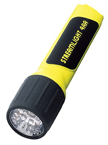 Streamlight 68201 4AA LED Flashlight with Alkaline Batteries, Yellow (Black Flashlight Propolymer)