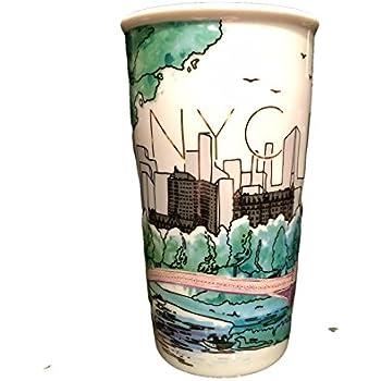 e90ac2cd70f Amazon.com: Starbucks Exclusive New York City Travel Mug: Kitchen ...