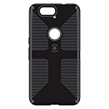 Speck Products CandyShell Grip Cell Phone Case for Google Nexus 6P Smartphone - Retail Packaging - Black/Slate